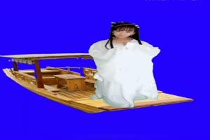 美女小船 绿幕素材 巧影素材 特效抠像素材 14手机特效图片