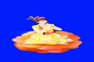 美女 仙女唱歌跳舞 巧影抠像 AE抠像 绿幕素材手机特效图片