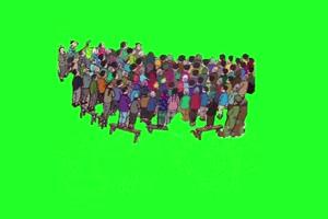 村口看电影 童年农村儿时绿幕抠像素材免费下载手机特效图片