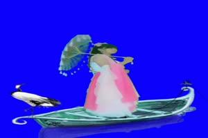 美女小船 绿幕素材 巧影素材 特效抠像素材 18手机特效图片