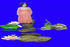 美女 131 仙女 跳舞 巧影抠像 AE抠像 绿幕素材手机特效图片