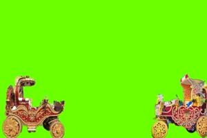 轿子 花车 婚车绿幕视频素