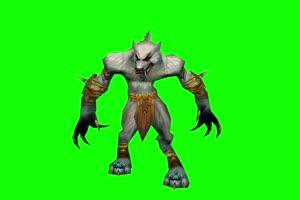 魔兽世界 狼人 绿屏抠像 绿幕素材 特效抠像素材