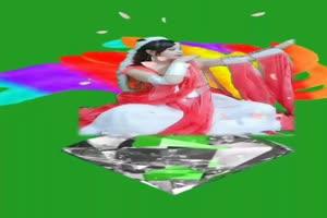 美女九尾狐 仙女 跳舞 巧影抠像 AE抠像 绿幕素材手机特效图片