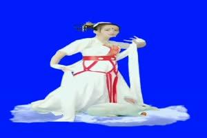 美女 90 仙女 跳舞 巧影抠像 AE抠像 绿幕素材手机特效图片