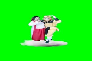 孙悟空和他的女朋友 绿幕素材 西游记手机特效图片