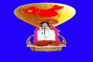 中国国旗 国庆节 跳舞 巧影抠像 AE抠像 绿幕素材手机特效图片