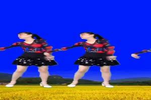 2个美女跳舞 巧影抠像 AE抠像 绿幕素材手机特效图片
