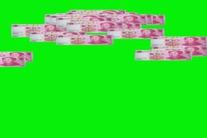 人民币 天降人民币 下钱 1 绿屏抠像素材 巧影A手机特效图片