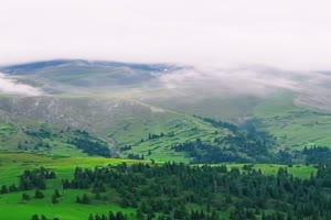 绿山雾霾 手机竖版视频 风景航拍 山水 山峰手机特效图片
