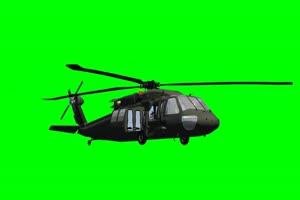 黑鹰 直升机 3 飞机 绿屏绿
