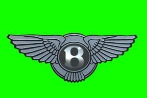 宾利 Bentley Logo 车标 绿屏抠像 特效素材手机特效图片