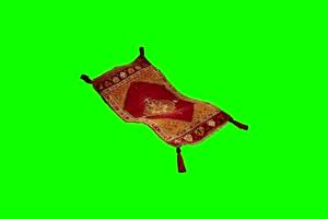 飞毯 毛毯 飞天特效3 绿屏素材