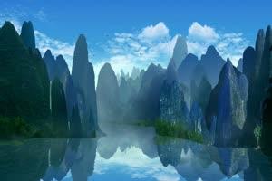 美景 山水背景 背景素材绿布和绿幕视频抠像素材