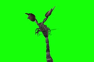 蝎子 特效牛 绿幕素材 抠像视频 后期特效素材手机特效图片