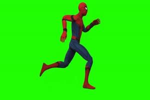 蜘蛛侠 跑 8 漫威英雄 复仇者联盟 绿屏抠像 特效手机特效图片