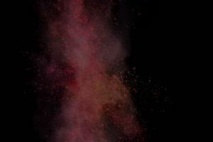 免费粉尘颜料燃料五彩粉末粒子 头顶 7 黑幕抠像手机特效图片