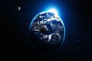 航天飞机 飞船 2 绿屏绿幕特效抠像素材手机特效图片