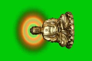 佛主 观音 菩萨 绿屏抠像素材 12手机特效图片