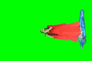 古装美女 绿屏素材 巧影AE8