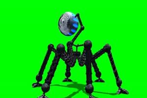 外星人 机器人 2 飞机 绿屏绿幕 抠像素材手机特效图片