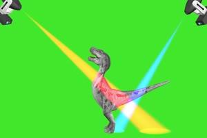 恐龙跳舞 绿屏动物 特效视频 抠像视频 巧影ae素手机特效图片