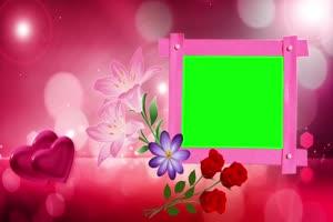 爱心 相框 绿屏抠像 巧影AE 特效素材 6手机特效图片