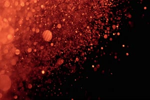 红色的小光斑光晕粒子 黑幕背景视频 抠像素材手机特效图片