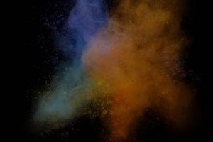 免费粉尘颜料燃料五彩粉末粒子 头顶 5 黑幕抠像手机特效图片