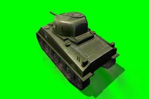 谢尔曼 坦克 大炮 3 特效后期 绿屏抠像素材手机特效图片
