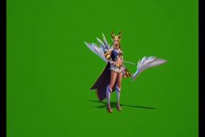 免费 艾琳绿幕素材合集 绿幕特效素材 绿幕 王者手机特效图片