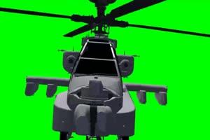 Apache 直升机 5 飞机 绿屏绿