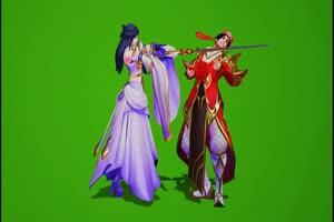 王者荣耀 孙悟空大圣娶亲绿幕 抠像视频下载手机特效图片