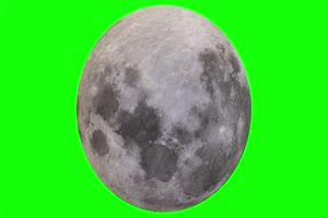 4K 月球自转中秋节月亮 绿幕抠像视频