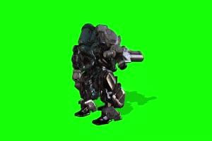 绿幕视频素材机器人阿特拉斯侧面 绿幕视频素材手机特效图片