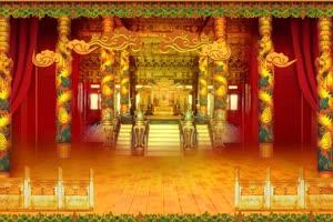 云祥皇宫室内 天宫 宫殿手机特效图片
