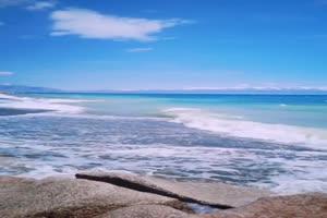 海边 沙滩 海浪 手机专用背景竖版视频手机特效图片
