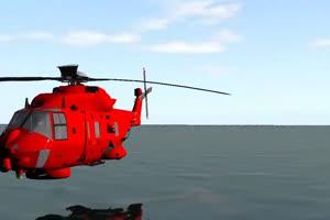 救援直升机 低空飞行  特效后期 绿屏抠像素材手机特效图片