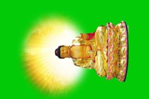 佛主 观音 菩萨 绿屏抠像素材 10手机特效图片