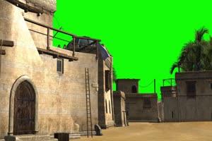 高清城堡扣图绿布和绿幕视频抠像素材