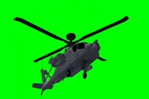 Apache 直升机 4 飞机 绿屏绿幕 抠像素材手机特效图片