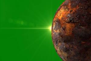 星球 星体旋转的恒星 星球 7 绿幕视频免费下载手机特效图片