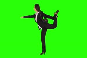 商务人士 美女 职场09 绿屏抠像 特效素材 巧影