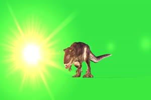 恐龙6 绿屏动物 特效视频 抠像视频 巧影ae素材手机特效图片
