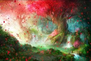 唯美森林 梦幻森林 仙境 背景视频下载35手机特效图片