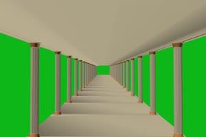 宫殿 绿屏抠像蓝幕特效素绿布和绿幕视频抠像素材