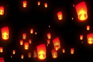 灯笼孔明灯春节除夕新年抠像视频特效素材 手机手机特效图片