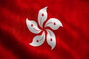 香港 特别行政区区旗 绿幕后期抠像视频特效素材手机特效图片