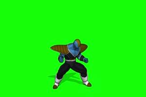 龙珠 蓝勇士前面 绿幕视频手机特效图片