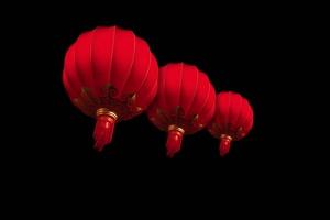 红灯笼春节除夕新年抠像